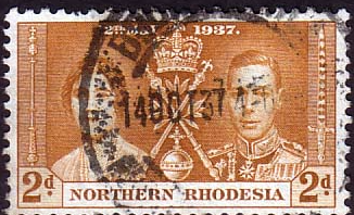 Northern Rhodesia 1937 Coronation SG 23 Fine Used