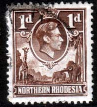 Stamps of Northern Rhodesia 1938 Animals SG 27 Fine Used Scott 27
