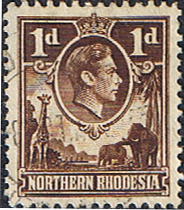 Northern Rhodesia 1938 Animals SG 27a Fine Used
