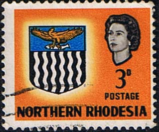 Northern Rhodesia 1963 Coat of Arms SG 78 Fine Used