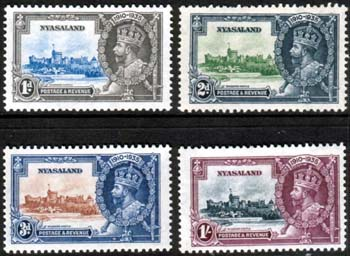 Nyasaland Stamps 1935 King George V Silver Jubilee Set Fine Mint