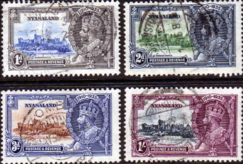 Stamps of Nyasaland 1935 King George V Silver Jubilee Set Fine Used