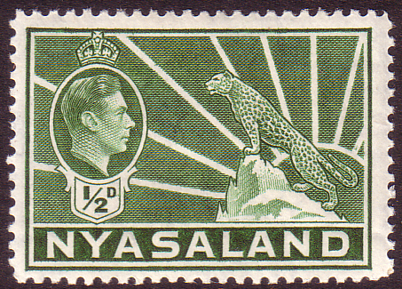 Nyasaland 1938 SG 130 Leopard Symbol of the Protectorate Fine Mint