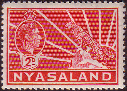 Stamps of Nyasaland 1938 Leopard Symbol of the Protectorate Fine Mint