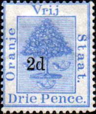 Orange Free State 1890 SG 53 Orange Tree Surcharged Fine Mint