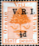 Orange Free State 1900 SG 112 Orange Tree V R I Overprint Fine Mint