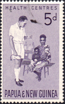 Stamps Papua New Guinea 1964 Health Services Fine Used SG 57 Scott 184
