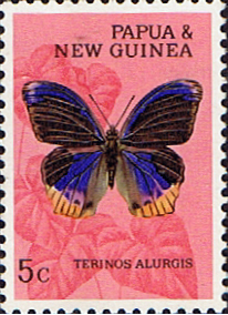 Butterfly Stamp Stamps Papua New Guinea 1966 Butterflies SG 85 Fine Mint Scott 212