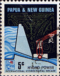 Postage Stamps Papua New Guinea 1967 Laloki River Hydro-Electric Scheme SG 113 Fine Used Scott 159