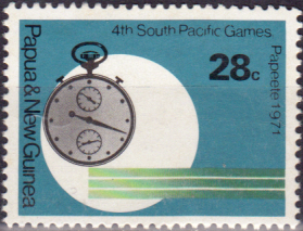 Commonwealth Stamps Papua New Guinea 1971 South Pacific Games Set Fine Mint