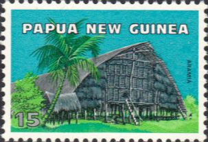 Stamps Papua New Guinea 1976 Native Dwellings Set Fine Mint