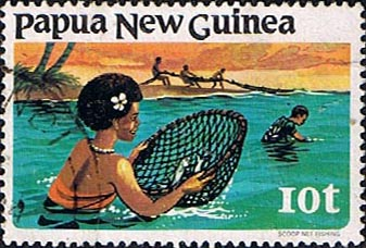 Postage Stamps Papua New Guinea 1981 Fishing SG 417 Fine Used Scott 545