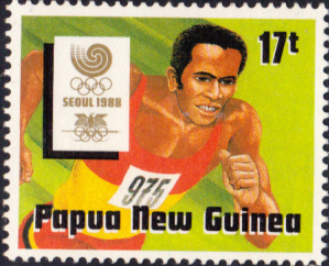 Sport Stamps Papua New Guinea 1988 Olympic Games Set Fine Mint