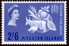 Postage Stamps Pitcairn Islands 1963 Freedom From Hunger Fine Mint SG 33 Scott 35