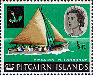 Postage Stamp Stamps Pitcairn Islands 1967 SG 69 Longboat Fine Mint Scott 72