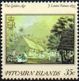 Postage Stamp Stamps Pitcairn Islands 1978 SG 187 Bounty Day Fine Mint Scott 176