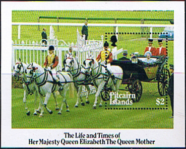Stamp Stamps Pitcairn Islands 1985 Queen Mother Life and Times Miniature Sheet Fine Mint SG 272 Scott 257