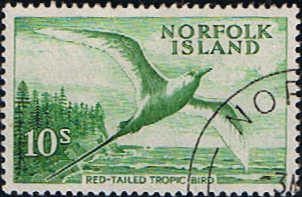 Norfolk Island 1960 Red Tailed Tropic Bird Fine Used SG 36 Scott 41