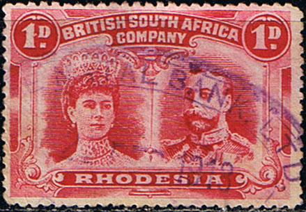 Stamp Stamps Rhodesia 1910 British South Africa Company