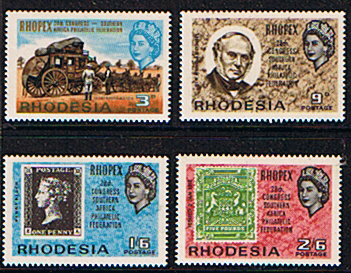 Stamps of Rhodesia 1966 Rhopex Fine Mint Set Rowland Hill