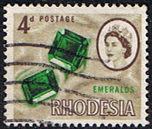 Stamps of Rhodesia 1966 Whitley Fine Used SG 377 Scott 226