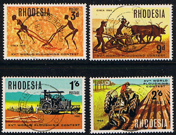 Rhodesia stamps 1968 World Ploughing Contest Set Fine Used