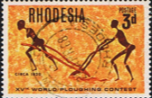 Rhodesia 1968 World Ploughing Contest SG 422 Fine Used