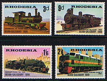 Stamps of Rhodesia 1969 Beira Salisbury Railway Set Fine Mint