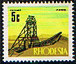 Stamps of Rhodesia 1970 Mining SG 443 Fine Mint SG 443 Scott 281