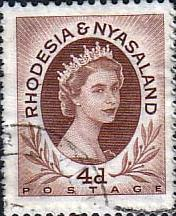 Postage Stamps Rhodesia and Nyasaland 1954 Queen Elizabeth II SG 5 Fine Used