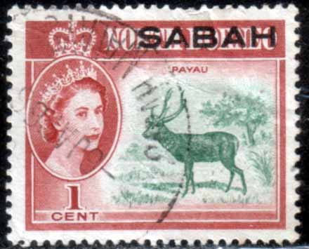 Postage Stamps Sabah 1964 SG 408 Animal Payau Fine Used
