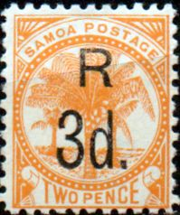 Postage Stamps Samoa 1895 Palm Trees SG 58 Fine Used Scott 11