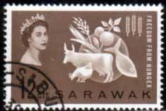 Sarawak 1963 Freedom From Hunger Fine Used