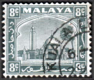 Stamps Selangor 1935 Mosque at Klang SG 75 Fine Used  SG 75 Scott 50