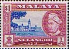Selangor 1957 SG 125 Sultan and Government Offices Fine Mint