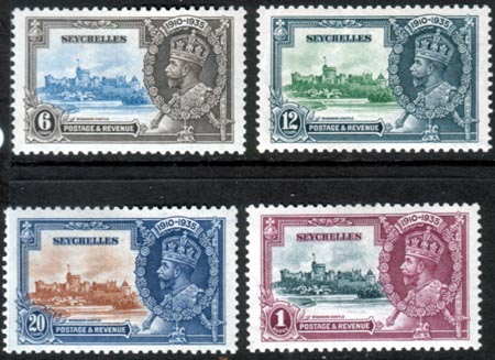 Seychelles Stamps 1935 King George V Silver Jubilee