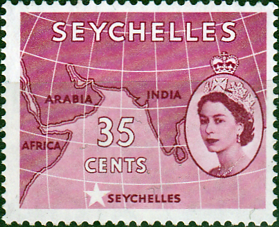 Stamp Stamps Seychelles 1954 Queen Elizabeth II SG 178 Fine Mint Scott