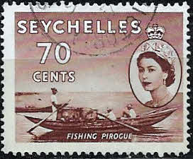 Stamp Stamps Seychelles 1954 Queen Elizabeth II SG 183 Fine Mint Scott 184