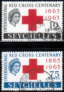 Stamps Seychelles 1963 Red Cross Centenary Set Fine Mint