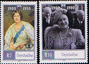 Seychelles 1990 Queen Mother 90th Birthday Set Fine Mint
