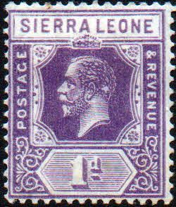 Stamps Sierra Leone 1921 King George V VII SG 132a Fine Used Scott 123