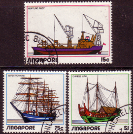 Singapore 1972 Ships and Shipping Set Fine Used