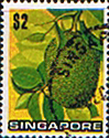 Singapore 1973 Fruit SG 222 Jackfruit Fine Used