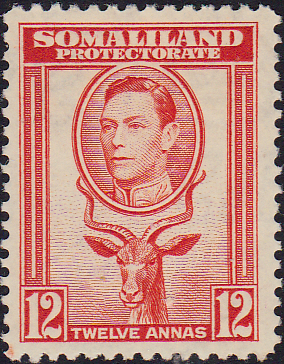 Somaliland Protectorate 1938 King George VI SG 100 Fine Mint