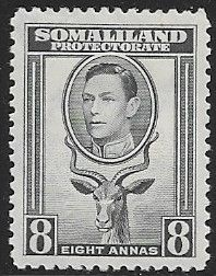 Somaliland Protectorate 1938 King George VI SG 99 Fine Mint