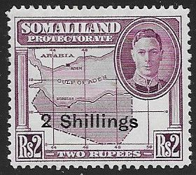 Somaliland Protectorate 1951 King George VI Decimal Surcharged SG 133 Fine Mint