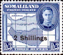 Somaliland Protectorate 1951 King George VI Decimal Surcharged SG 134 Fine Mint