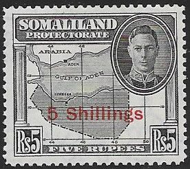 Somaliland Protectorate 1951 King George VI Decimal Surcharged SG 135 Fine Mint