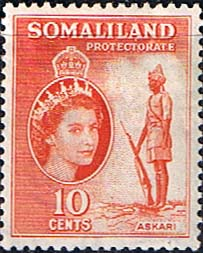 Stamps Somaliland Protectorate 1953 Queen Elizabeth SG138 Fine Mint Scott 129