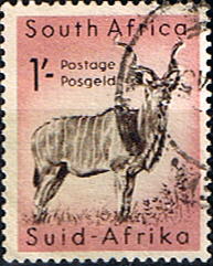 South Africa 1954 Wild Animals SG 159 Kudu Fine Used